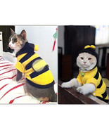 1Pcs Pet Clothes Cute Bees Dog Cat Clothes Soft Fleece Teddy Poodle Dog ... - $8.59