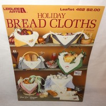 Holiday Bread Cloths Cross Stitch Leaflet 462 Patterns 1986 County 9 Des... - $9.99