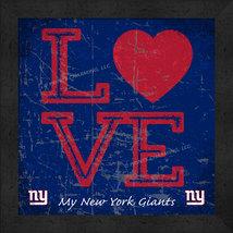 "New York Giants 13x13 ""LOVE My NFL Team"" Color Textured Framed Print  - $39.95"