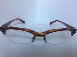 New ALAIN MIKLI A 0928 A0928 0001 53mm Striped Havana Eyeglasses Frame France - $318.59