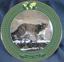 AMERICAN MONARCH Kingdom Great Cats Charles Frace Collector Plate & dama... - $21.97