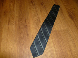 "Van Heusen Gray Black Men's Striped Pattern Silk Tie 57""L - $12.87"