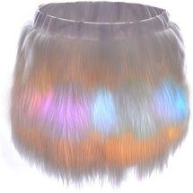 Women's Mini Led Light up Faux Fur Skirt image 2