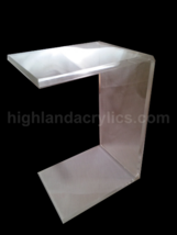"C-Table Clear Acrylic Lucite Plexiglass END TABLE 26"" x 12"" x 15"" - $225.00"