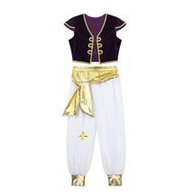Kids Arabian Prince Lamp Cosplay Costumes Cap Sleeves Vest Waistcoat Pan... - $34.98