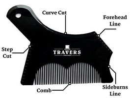 Travers Brands Beard Shaping Tool with Built-in Beard & Mustache Comb for Beard  image 2