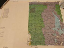 "Vintage 1980 Lot (8) Wyoming Quad Index Map US Dept of Interior 22x16.5"" 2 Sided image 9"