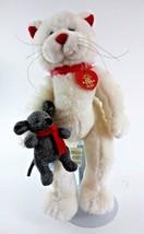 "Build a Bear 15"" White Cat Kitten Plush stuffed... - $16.82"