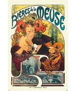 "Alphonse Mucha Bieres De La Meuse Cool Wall Decor Art Print Poster 24"" x... - $23.73"