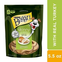 Purina Beggin' Made in USA Facilities Low Fat Dog Treats, Skinny Strips ... - $31.48 CAD