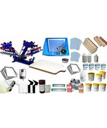 4 Color Silk Screen Printing Press 4 Color Single Station Consumables Kit - $1,292.24