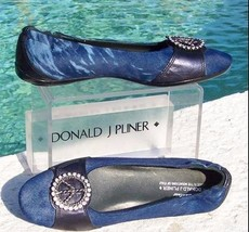 Donald Pliner Couture Hair Calf Leather Rhinestone Peace Flat Shoe New $... - $168.75
