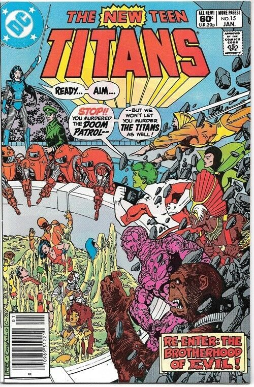 The New Teen Titans Comic Book #15 DC Comics 1981 NEAR MINT NEW UNREAD