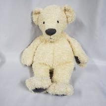 Manhattan Toy Stuffed Plush Cream Beige Teddy Bear 2009 Gray Nose Beanba... - $98.99