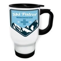 ski patrol White/Steel Travel 14oz Mug v251t - $17.79