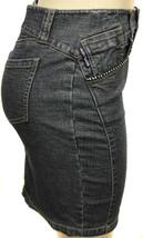 Dkny Jeans Juniors Premium Fashion Stretch Denim Skirt With Rhinestones image 2