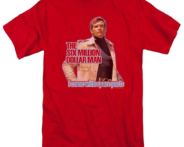 The Six Million Dollar Man Retro 70's Sci-Fi TV series graphic t-shirt NBC534 image 3