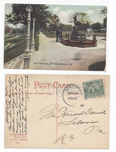 Sc 328 Jamestown lebanon Flag Cancel Reading duplex 1907 Deer Fountain P... - $5.99