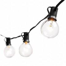 Deneve 50 Ft Globe String Lights G40 Bulbs, Black - Connectable Strings ... - $42.30