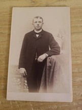 MOSHER ALBANY,NY VINTAGE 19TH CENTURY CABINET CARD PHOTO.YOUNG MAN. - $23.36