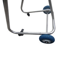 Stainless Steel Boat Outboard Motor Stand Cart Dolly With Wheel Enginee Carrier image 7