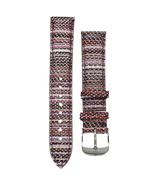 Michele 16mm Berry Stripe Genuine Leather Strap MS16AA430844 Deco 16 Lilou - $48.19