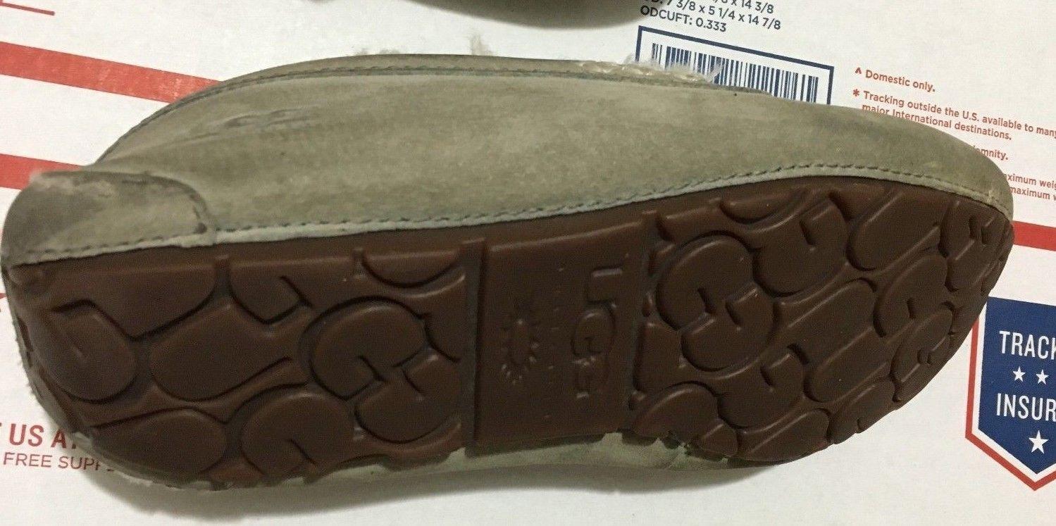 UGG Australia Size 6 Women Ansley Sheepskin Gray Moccasins Slippers Shoes 3312
