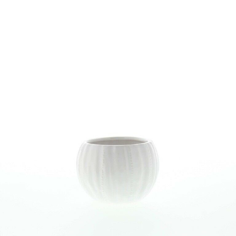 Set of 2 Chic Pure White Textured Ceramic Round Votive Candle Holders image 9