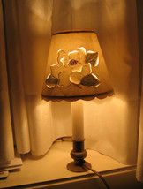 Petite Candle Lamp Perforated Shade Single Vint... - $13.08