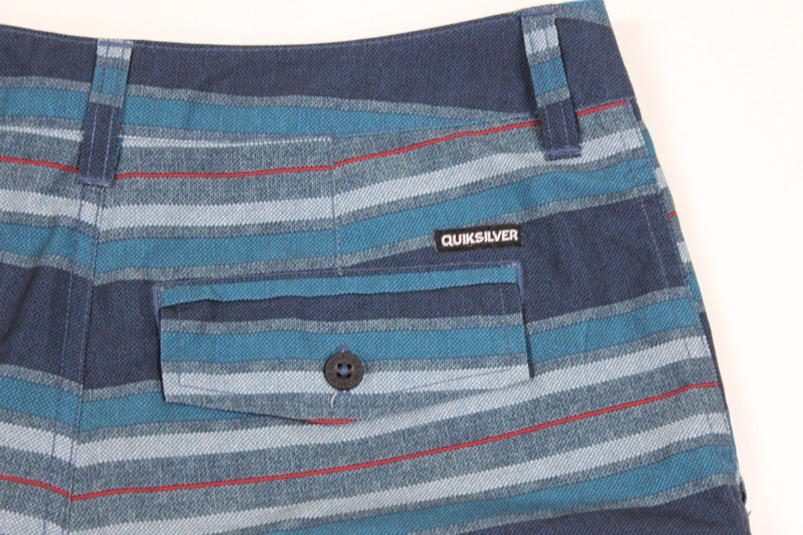 6aac4ff825 MINT Quiksilver AG-47 Stripe Amphibian Boardshorts MENS 29 Blue Swim Shorts