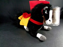 "Disney Mulan Khan Black Horse Bean Bag Plush Stuffed Animal Toy Doll 8"" ... - $9.89"