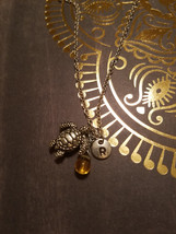 Birthstone November Topaz turtle necklace turtl... - $26.00 - $28.00