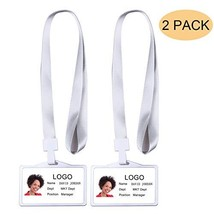 FINENIC【2 Pack】Aluminum Badge Holder with Detachable Neck Lanyard, Silve... - $8.88
