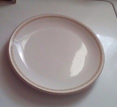 Homer Laughlin Dinner Plate White With Orange E... - $9.50