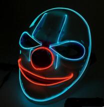 LED Mask Illuminated Glowing Joker Mask For Costume Halloween Rave Cospl... - $75.00