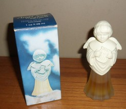 """Vintage 1970's Avon ANGEL SONG w Lyre """"Here's my Heart"""" Cologne Bottle w BOX~1/2 - $20.00"""