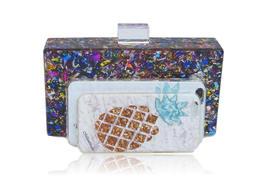 Milanblocks Colorful Confetti Acrylic Box Clutch image 2