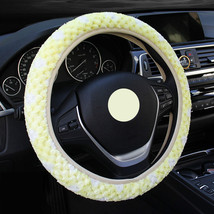 Cute Yellow Car Steering Wheel Cover Women Snowflakes Cashmere Warm Wint... - $8.69