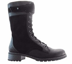 TIMBERLAND A110V WENHAM MID LACE WOMEN'S BLACK LEATHER/SUEDE ZIP BOOTS s... - $159.16 CAD