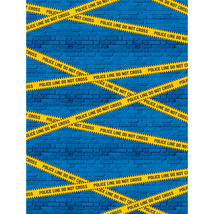 "Police Party 72"" x 54"" Photo Backdrop, Case of 6 - £35.46 GBP"