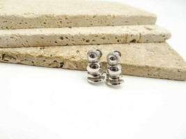 Vintage Signed Coro Small Polished Silver Modernist Screw Back Earrings ... - $15.99