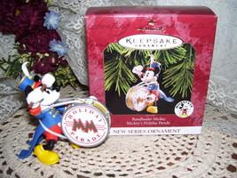 HALLMARK CHRISTMAS ORNAMENT DISNEYS MICKEY MOUSE MIB - $15.95