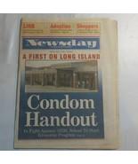 Newsday November 3 1995 Condom Handout Against AIDS LIRR Adoption N2 - $39.99