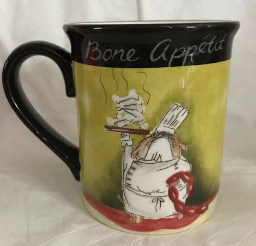 Certified International Tracy Flickinger Dogs Serving Bone Appetit! Mug Cup image 3