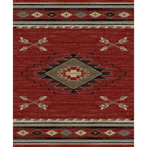 Southwestern Lodge Cabin Rustic Tribal Arrow Red Area Rug **FREE SHIPPING** - $115.00+