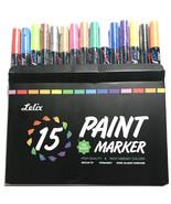 Paint Pens Lelix 15 Pack Oil Based Permanent oil paint markers 15 - $32.71