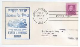 First Trip Highway Post Office Between Atlanta & Columbus 1950 Trip 1 HP... - $2.99