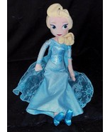 "19"" DISNEY STORE PRINCESS FROZEN ELSA BLUE DRESS STUFFED ANIMAL PLUSH TO... - $20.57"