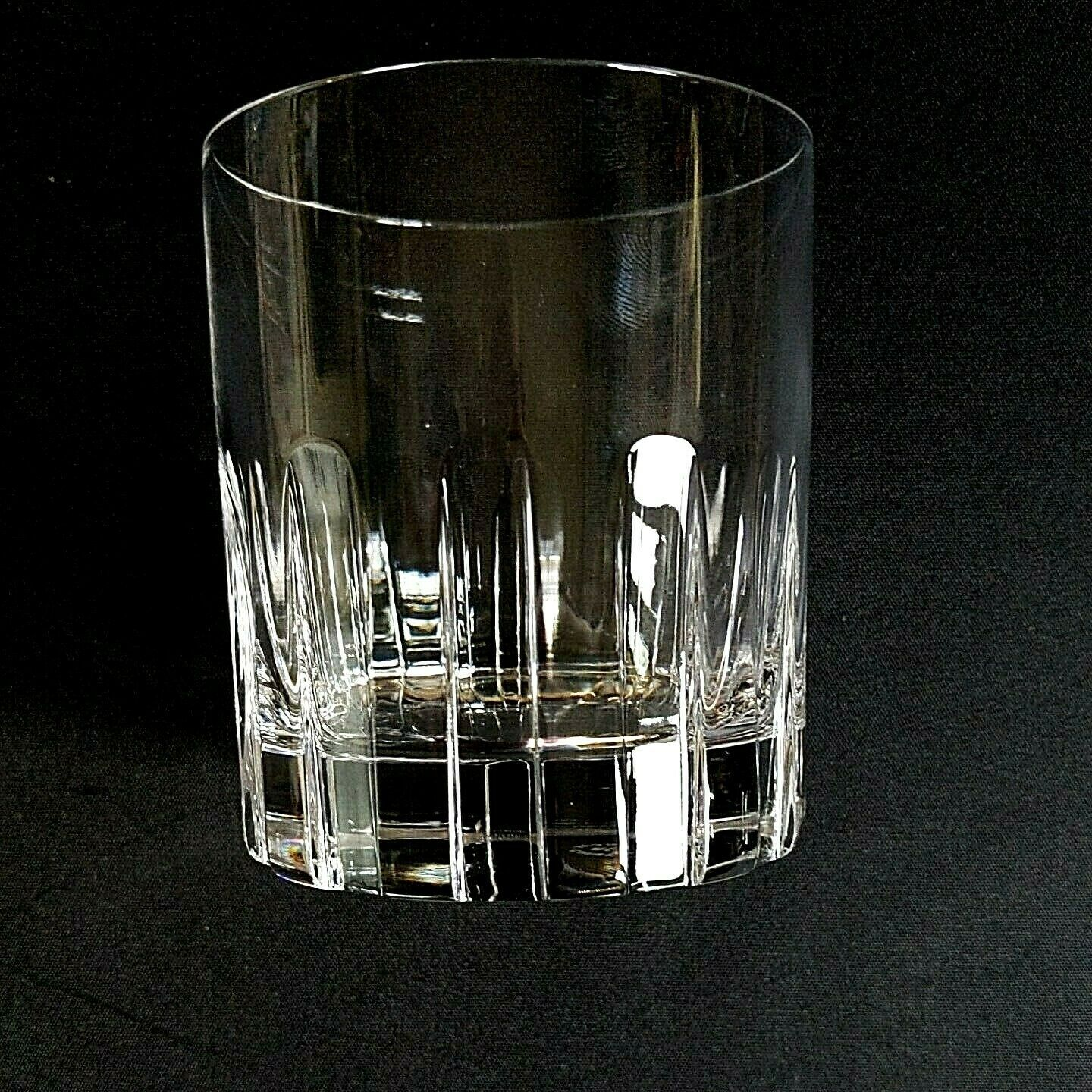 6 (Six) ROYAL CRYSTAL ROCK-RCR TIMELESS Cut Crystal Double Old Fashioned Glasses image 3