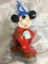 Disney Fantasia Mickey Mouse Witch Pottery piggy bank Big Figures doll - $187.11